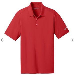 Nike Golf Dri Fit Red Short Sleeve Polo Shirt